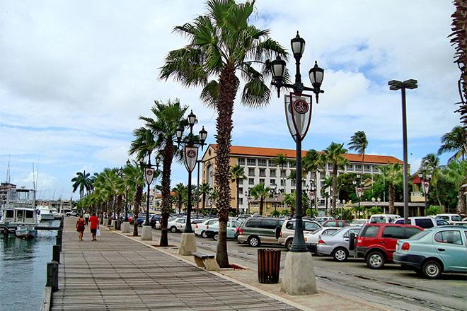 Street scene in Aruba